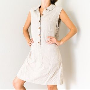 Linen Vintage Mini Shift Dress